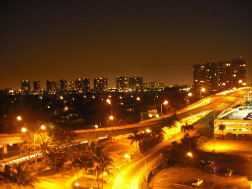 North Beach Miami at Night